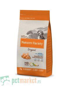 Nature's Variety: Hrana za štence Junior Original Grain Free, Losos