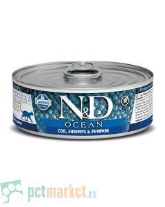 N&D Grain Free: Vlažna hrana za mačke Ocean, Bundeva i Bakalar