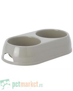 Moderna: Dupla posuda za hranu i vodu Double Eco Bowl, 2 x 570 ml