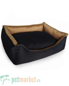 Pet Line: Krevet za pse 2u1 Crno-Bež