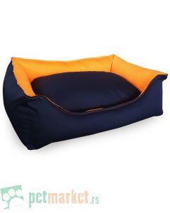 Pet Line: Krevet za pse 2u1 Teget-Narandžasti