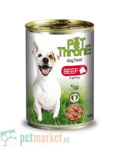 Pet Throne: Komadići mesa u Gravy sosu za pse