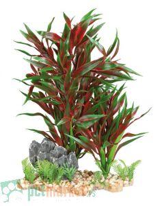 Trixie: Crvena plastična biljka sa podlogom