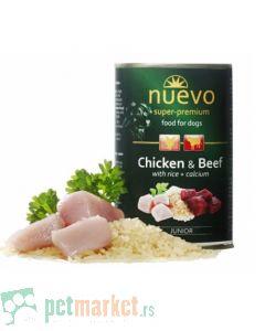 Nuevo: Vlažna hrana za pse Junior, Piletina i Govedina, 3 x 400 gr
