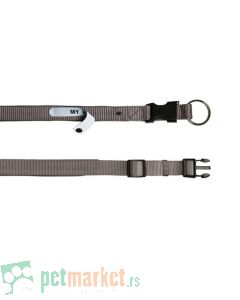 Trixie: Ogrlica sa adresarom Premium siva