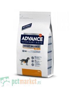Advance Veterinary: Hrana za gojazne pse malih rasa Weight Balance Mini, 1.5 kg