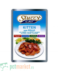 Stuzzy: Komadići mesa kuvani na pari za mačiće Kitten, 100 gr