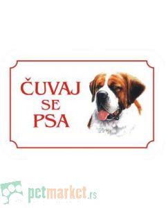 Kozmo: Tabla Čuvaj se psa, Bernardinac latinica