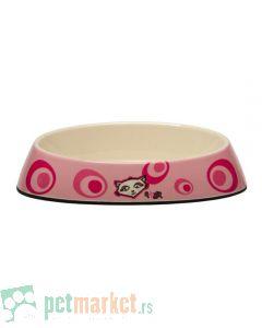 Rogz: Melamin posuda za mace Pink Floral, 200 ml