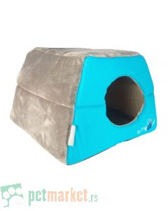 Rogz: Kućica ležaljka za mace Igloo Podz, Blue Floral