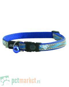 Rogz: Reflektujuća ogrlica za mace Night Cat, Blue Floral