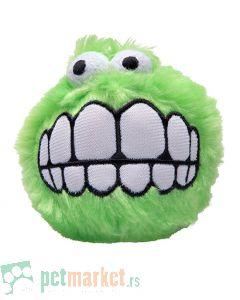 Rogz: Plišana loptica sa zubima Fluffy Grinz Ball, zelena