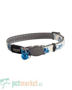 Rogz: Ogrlica koja svetli u mraku Glow Cat, Blue Floral