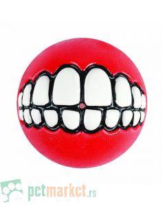 Rogz: Lopta sa zubima Grinz Ball, crvena
