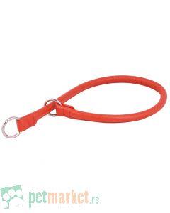 Collar: Kožna davilica Glamour Style, crvena