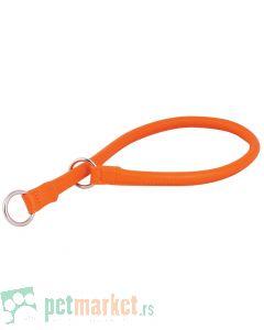 Collar: Kožna davilica Glamour Style, narandžasta