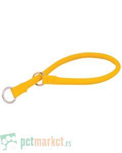 Collar: Kožna davilica Glamour Style, žuta