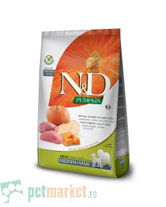 N&D Pumpkin: Hrana za pse Medium/Maxi Adult, Bundeva & Divlja Svinja