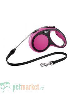 Flexi: Povodac New Comfort Cord Pink