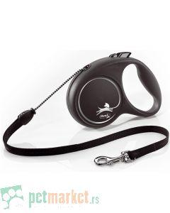 Flexie: Povodac Black Design Cord, Sivi