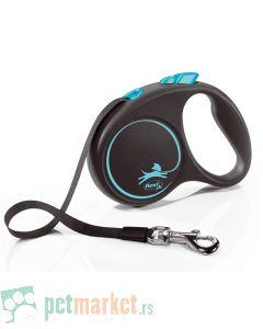 Flexie: Povodac Black Design Tape, Plavi