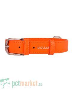 Collar: Kožna ogrlica Glamour Fashion, narandžasta