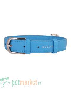 Collar: Kožna ogrlica Glamour Fashion, Plava