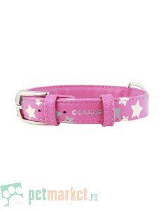 Collar: Kožna ogrlica Glamour Glowing Star, roze