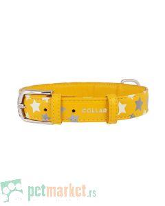 Collar: Kožna ogrlica Glamour Glowing Star, žuta