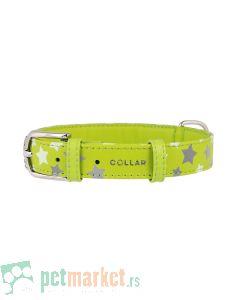 Collar: Kožna ogrlica Glamour Glowing Star, zelena