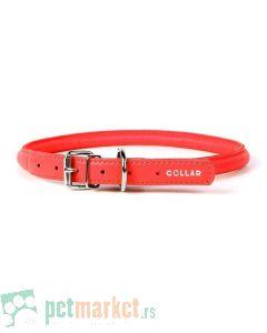 Collar: Kožna ogrlica Glamour Style, crvena