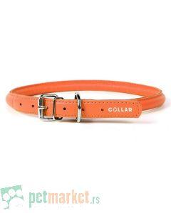 Collar: Kožna ogrlica Glamour Style, narandžasta