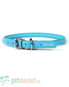 Collar: Kožna ogrlica Glamour Style, plava