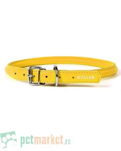 Collar: Kožna ogrlica Glamour Style, žuta