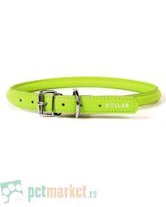 Collar: Kožna ogrlica Glamour Style, zelena
