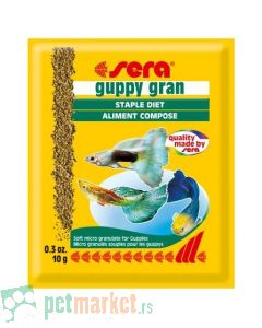 Sera: Hrana za gupike Guppy Gran, 10 gr