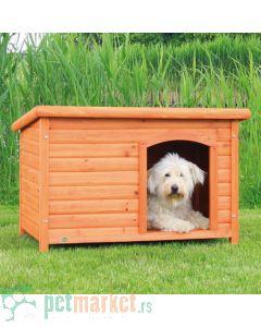 Trixie: Drvena kućica za pse sa ravnim krovom Natura, L