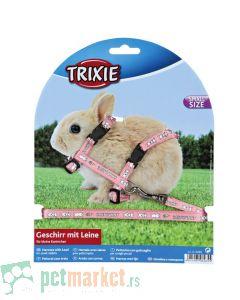 Trixie: Povodac i am za patuljastog zeca, roze