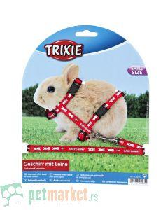 Trixie: Povodac i am za patuljastog zeca, crveni