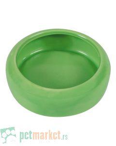 Trixie: Ovalna keramička posuda, zelena