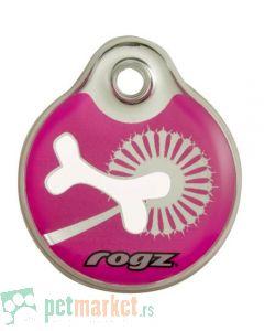 Rogz: ID privezak za pse Pink Bone