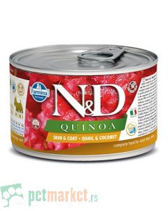 N&D Grain Free: Vlažna hrana za pse sa problematičnom kožom Mini Skin and Coat, Kinoa i Jelen