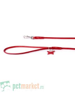 Collar: Kožni povodac Glamour Style, crveni