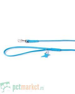 Collar: Kožni povodac Glamour Style, plavi