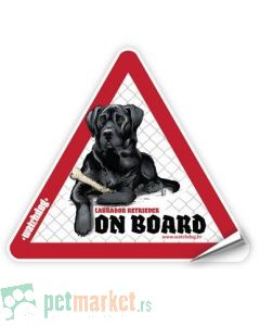 Watchdog: Nalepnica za auto Labrador Crni