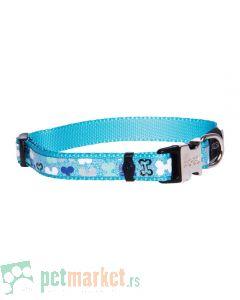 Rogz: Reflektujuća oglica za pse Trendy Blue Bones