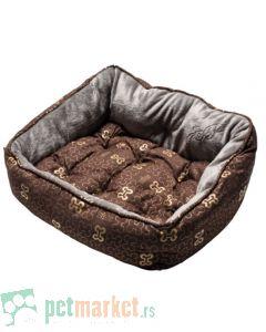 Rogz: Ležaljka za pse Trendy, Brown Bones