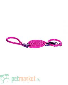 Rogz: Povodac sa ogrlicom Rope Moxon Lead, rozi