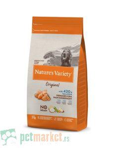 Nature's Variety: Hrana za pse Medium/Maxi Adult Original Grain Free, Losos