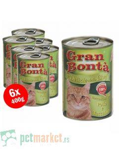 Gran Bonta: Konzervirana hrana za mace Delizie Chef, 6 x 415 gr